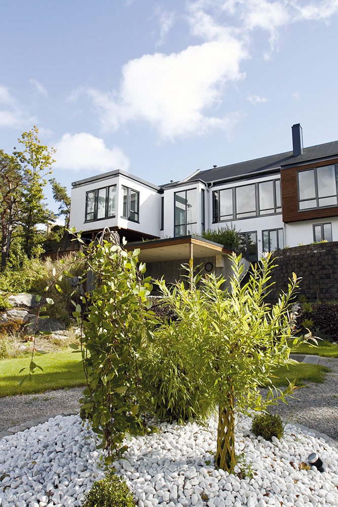 Renovert hus i moderne stil